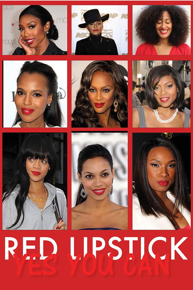 Celebrities in red lipstick