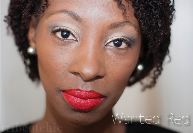 Sephora color lip last Wanted Red lipstick swatch