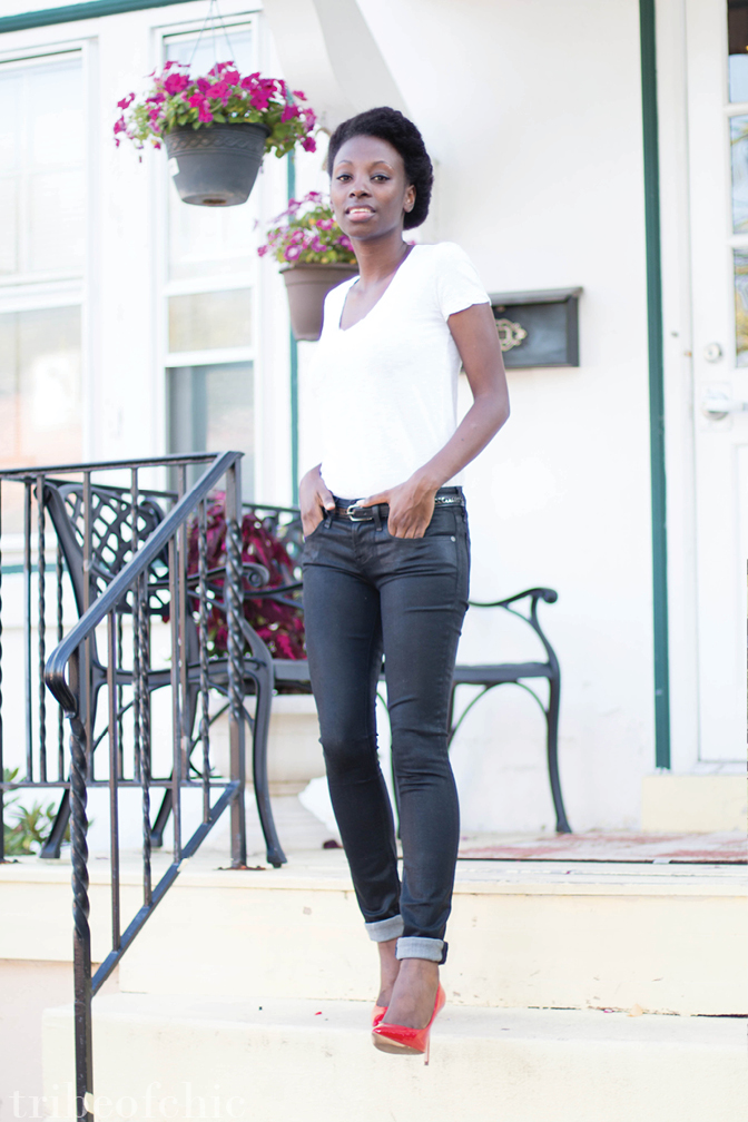 black skinny jeans outfit