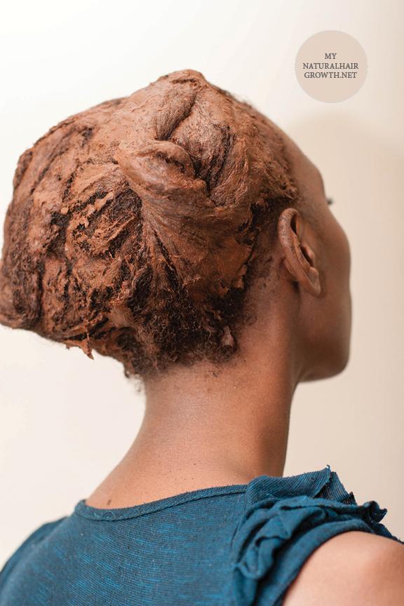 red raj henna on 4c natural hair