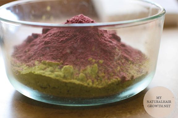 red raj henna and hibiscus powder