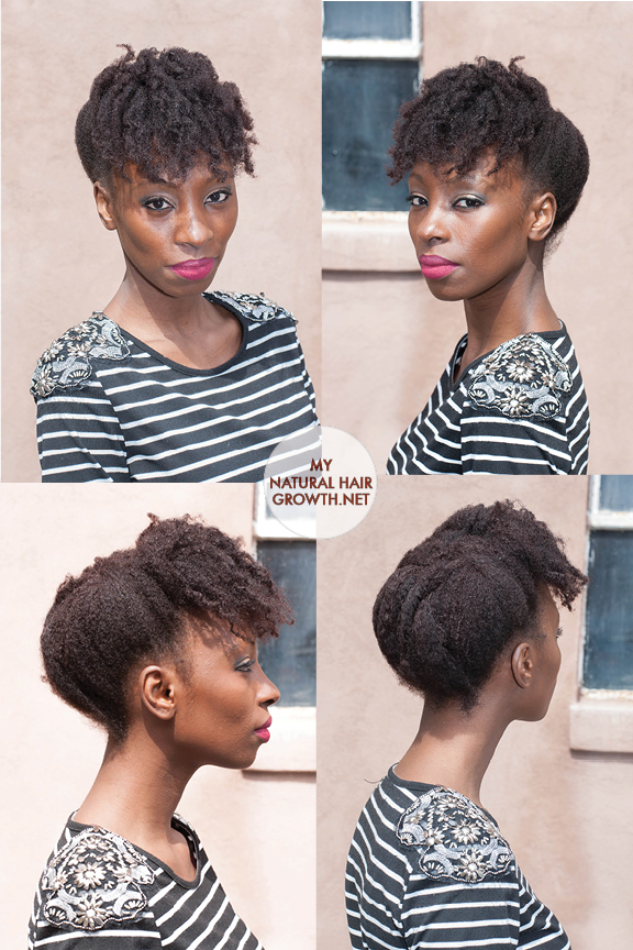 roll, tuck and pin styles for natural black hair