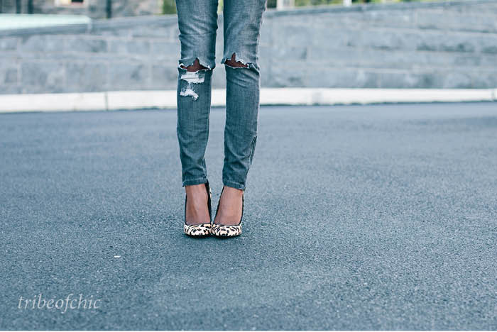 skinny jeans with heels