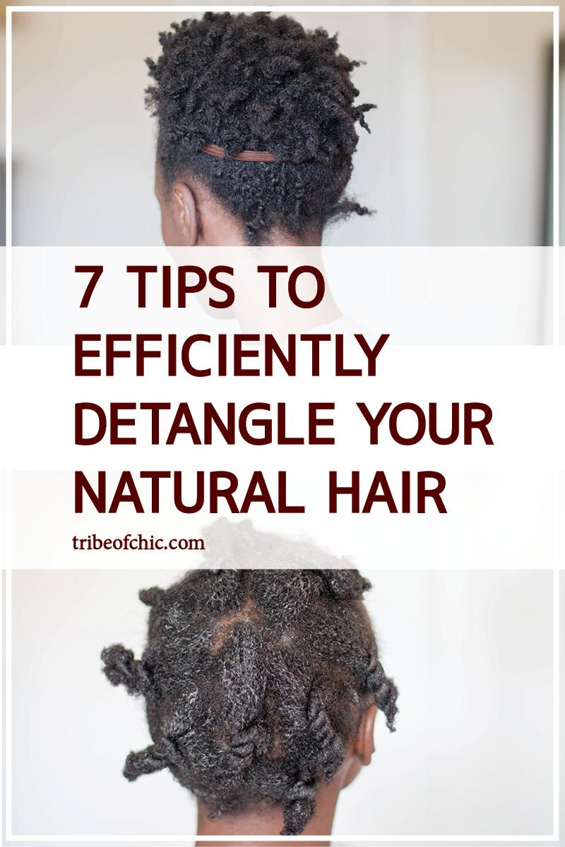 how to detangle natural hair
